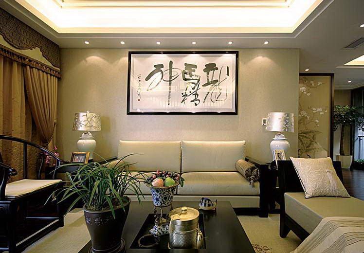 绿城百合209平方别墅新中式风格万博官网效果图