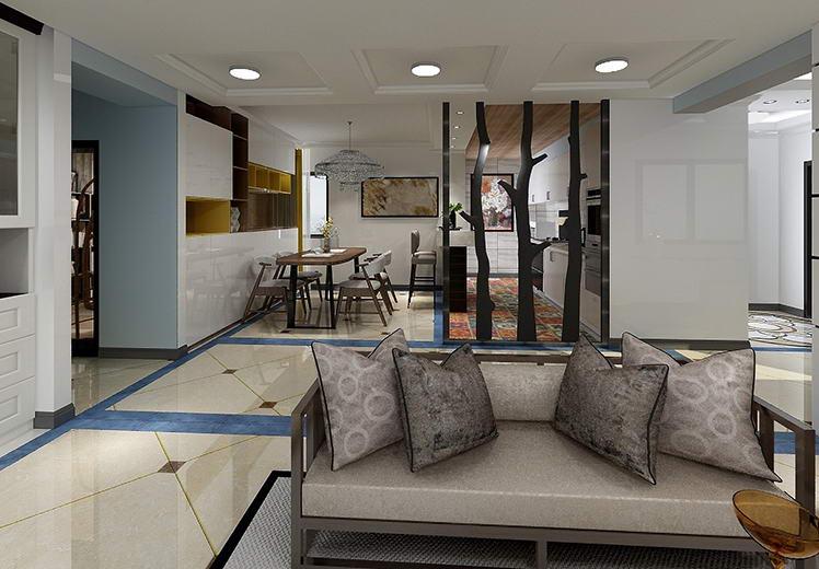 香庭雅静191平方四室两厅现代简约风格万博官网效果图