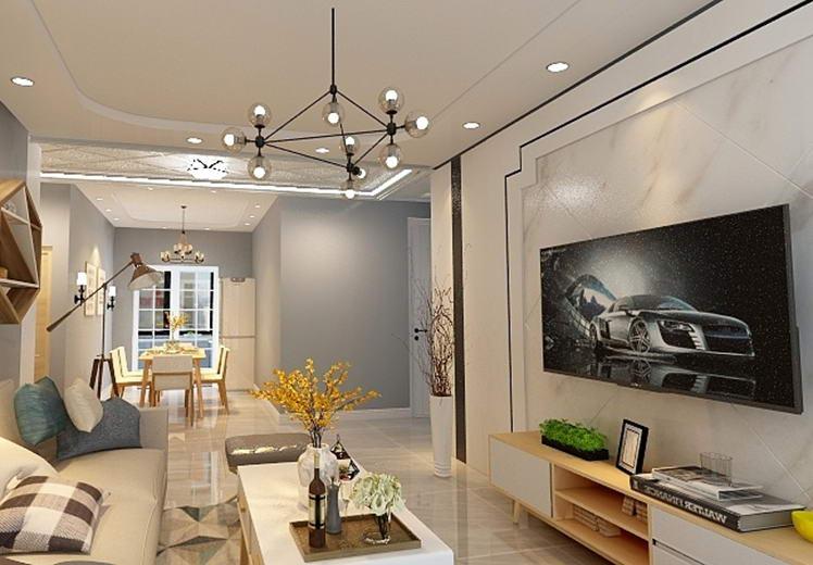 荣和城139平方三室两厅北欧风格万博官网效果图