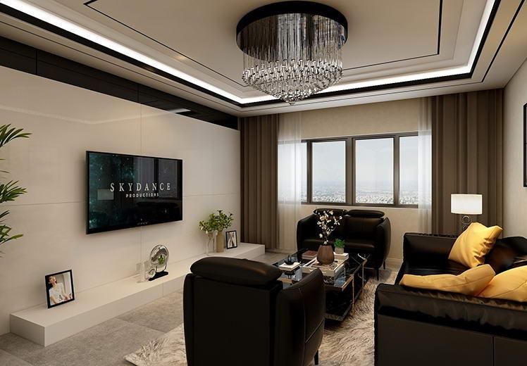 地震局家属院130平方三室两厅现代简约风格万博官网效果图