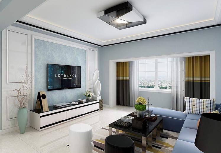 坤泰园130平方三室两厅现代简约风格万博官网效果图