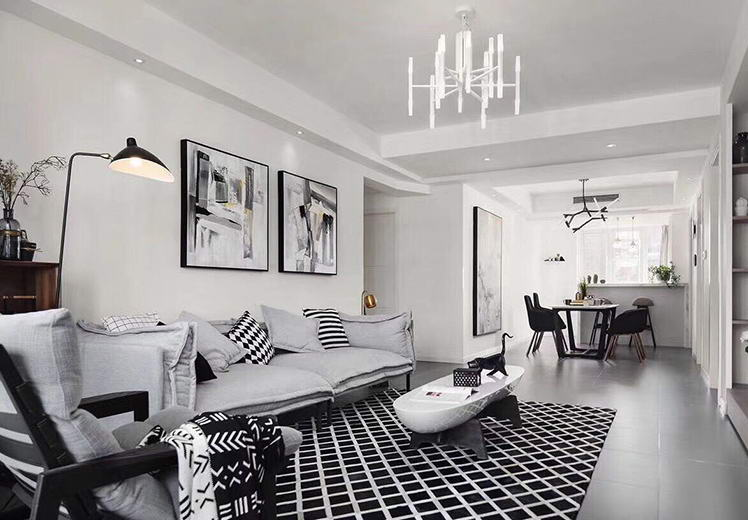 世界公园109平方三室两厅现代简约风格万博官网效果图