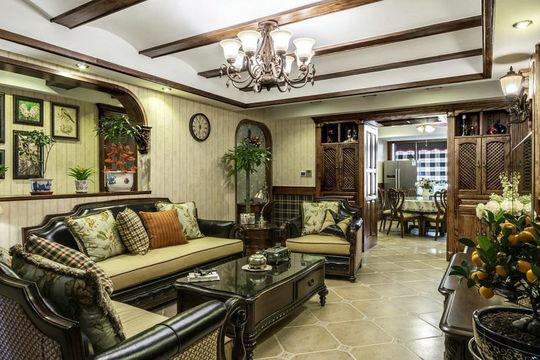 别墅的客厅万博官网,软装搭配也很重要
