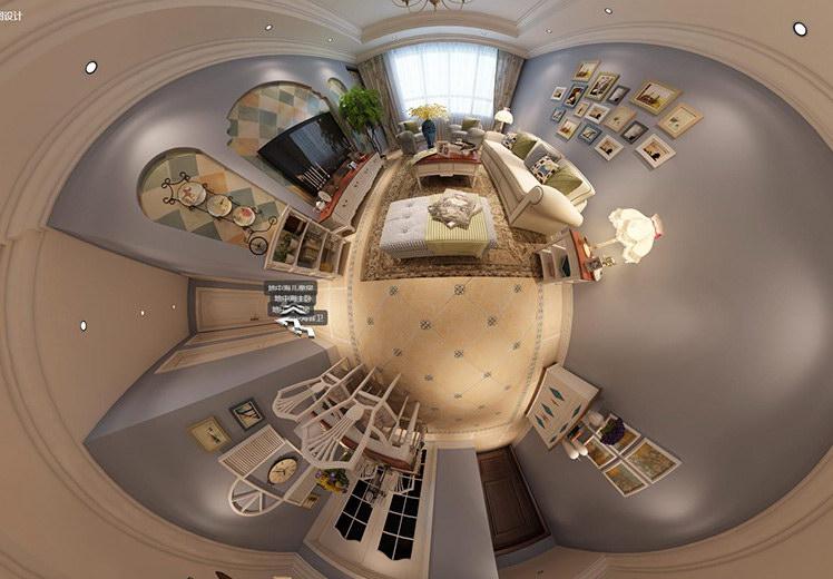 观山居三室两厅地中海风格案例