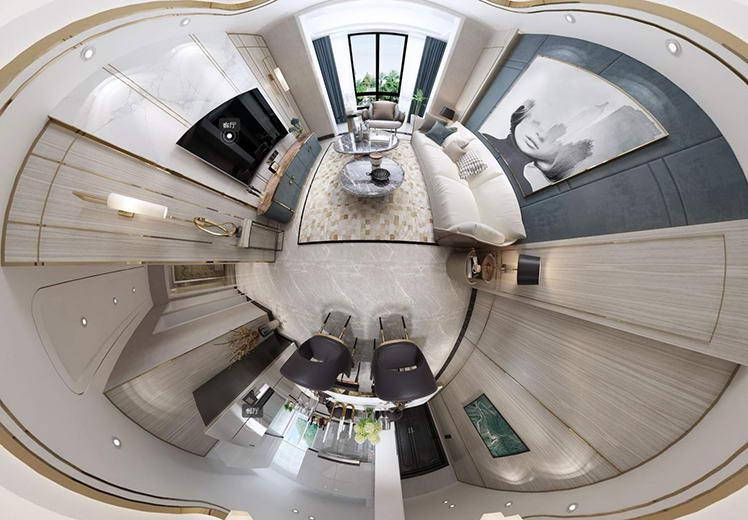紫美雅和三室两厅轻奢风格vr案例