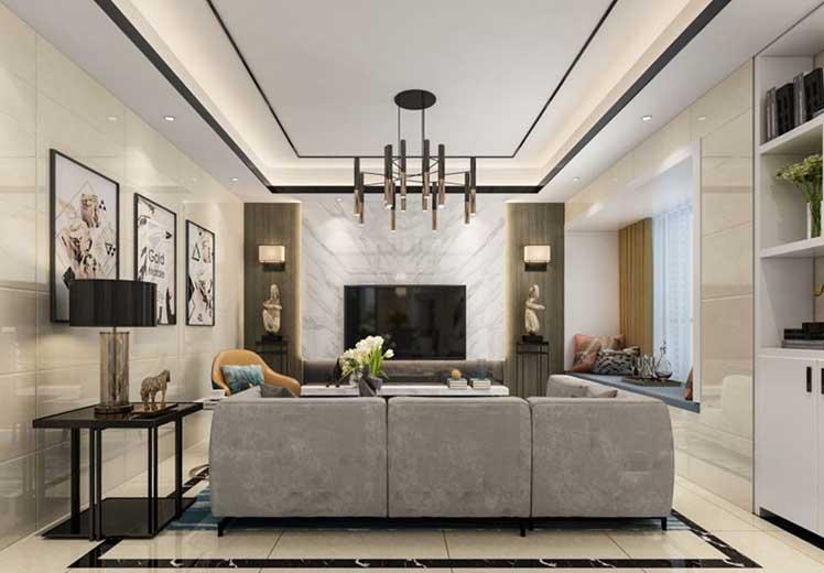 天银大厦105平方三室两厅现代简约风格万博官网效果图