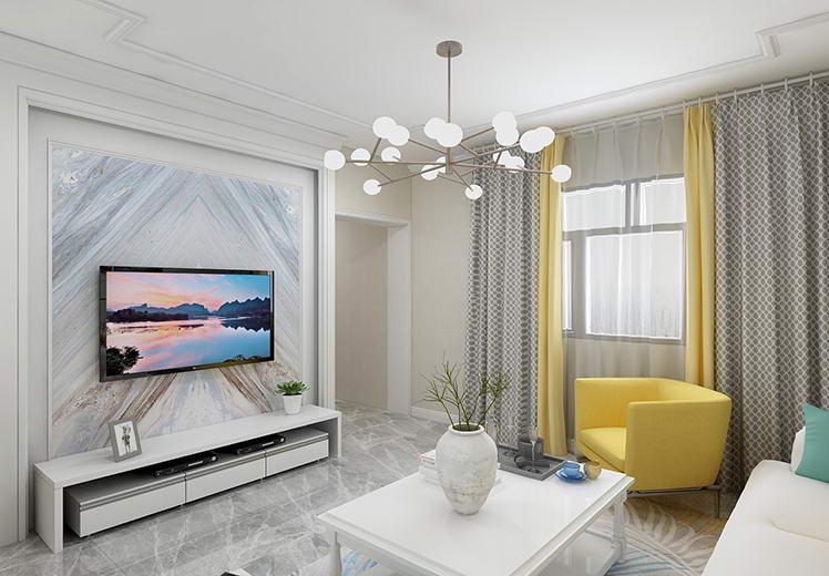 新法宾馆92平方三室两厅北欧风格万博官网效果图