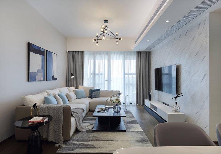 荣和城110平方三室两厅现代简约风格万博官网效果图