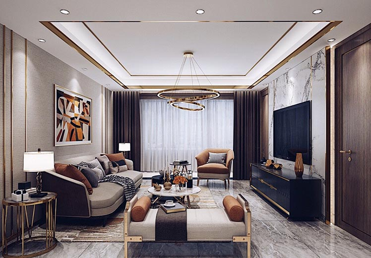 世界冠郡112平方三室两厅北欧轻奢风格万博官网效果图