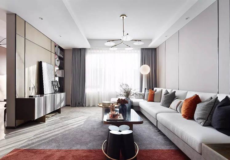 碧桂园125平方三室两厅新中式风格万博官网效果图