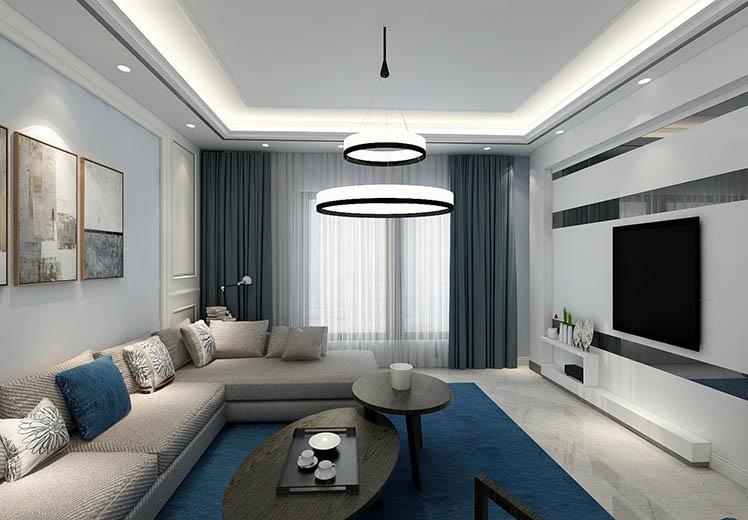 世界冠郡123平方三室两厅现代简约风格万博官网效果图