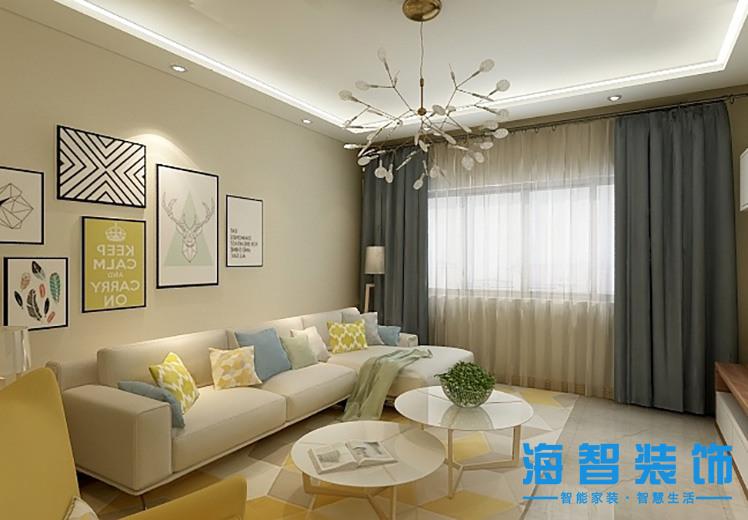 云岭青城125平方三室两厅北欧风格万博官网效果图