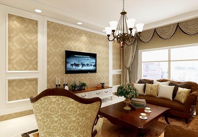 世界冠郡125平方三室两厅美式风格万博官网效果图
