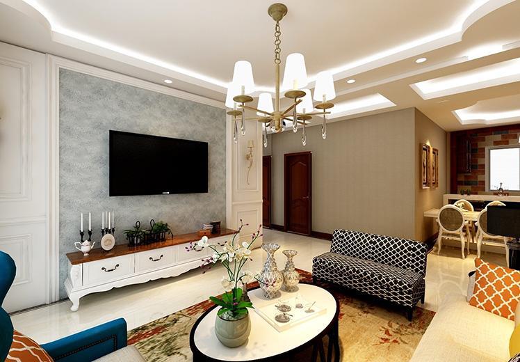 雅山新天地116平方三室两厅美式风格万博官网效果图