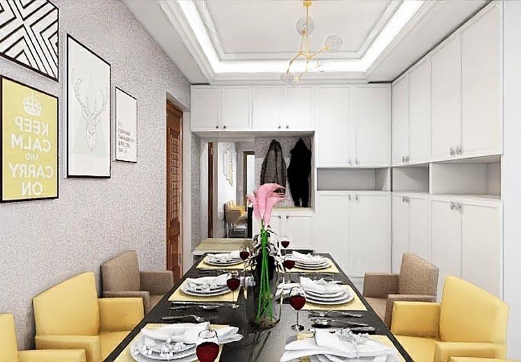 威尼斯小镇125平方三室两厅北欧风格万博官网效果图