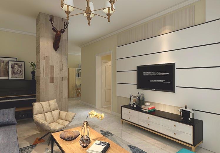 亚欧国际风情园115平方三室两厅北欧风格新万博体育app万效果图