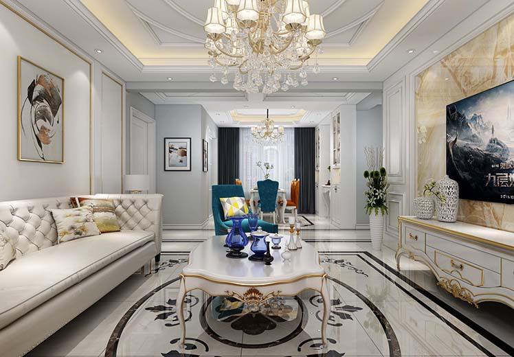 世纪环宇123平方三室两厅美式风格万博官网效果图