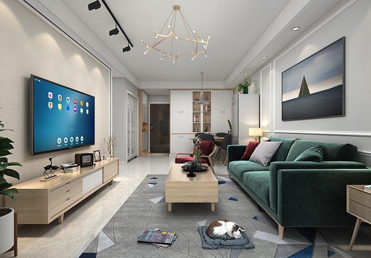 观园路115平方三室三厅现代风格万博官网效果图
