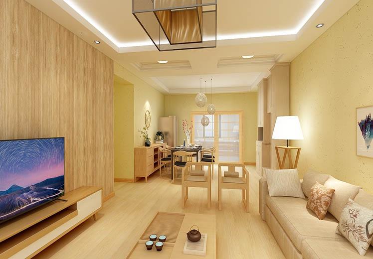 世界冠郡127平方三室两厅原木风格万博官网效果图