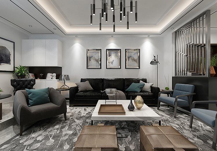 世界冠郡112平方三室两厅现代风格万博官网效果图