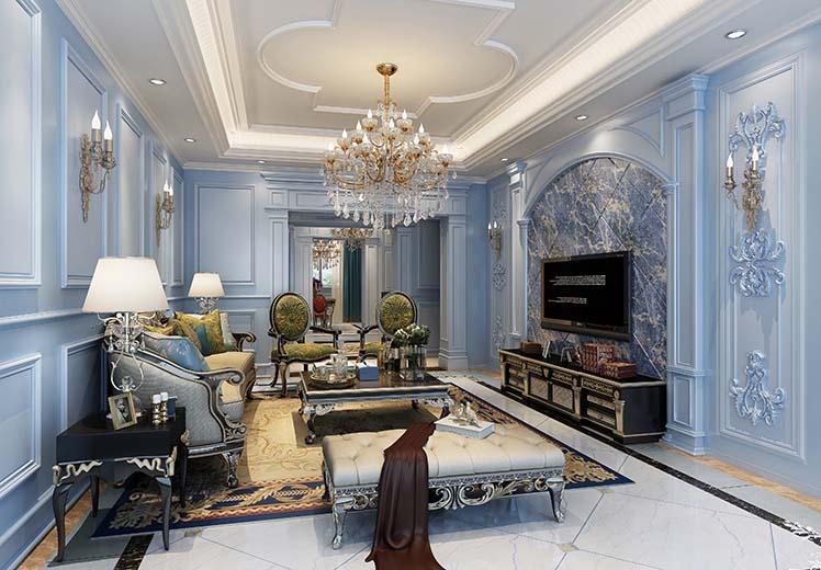 华域龙湾170平方四室两厅法式风格万博官网效果图