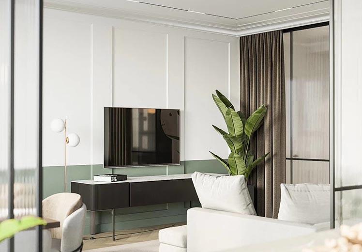 美林花园120平方三室两厅现代轻奢风格万博官网效果图