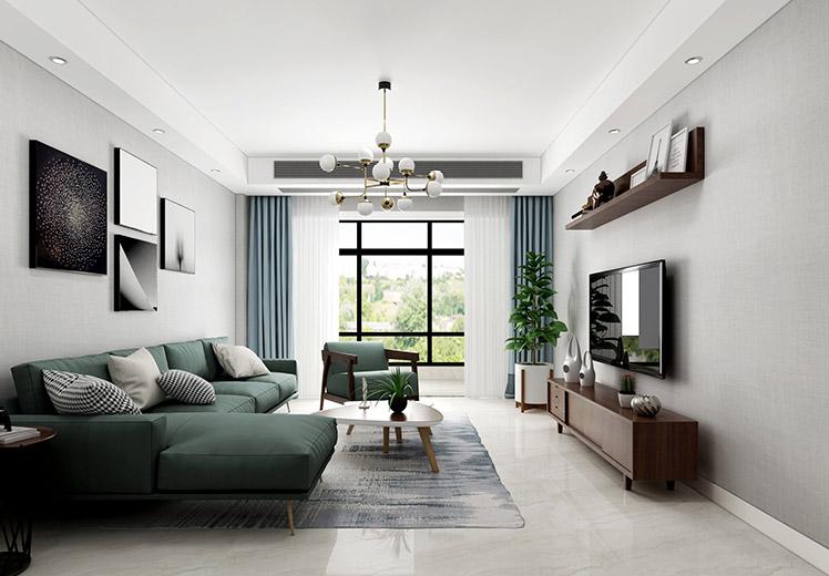 恒大绿洲130平方三室两厅北欧风格万博官网效果图