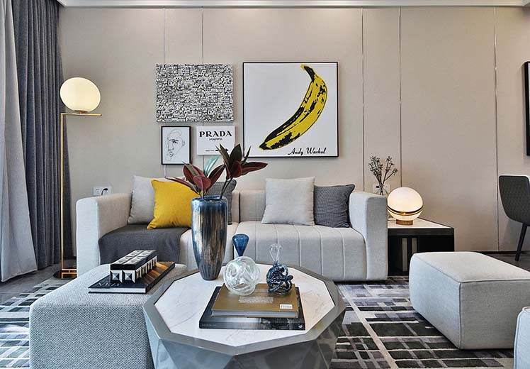航空家园99平方三室两厅北欧风格新万博体育app万效果图