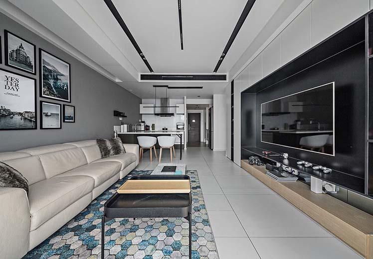 世界冠郡115平方三室两厅现代风格万博官网效果图