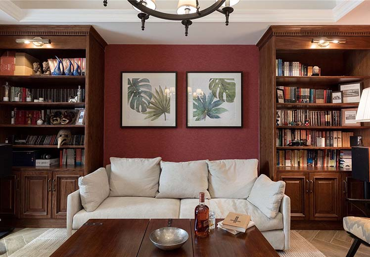 荣和城98平方两室两厅美式风格新万博体育app万效果图