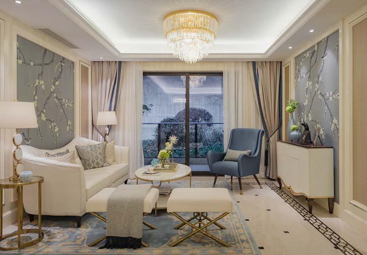 华域龙湾144平方三室两厅法式风格万博官网效果图