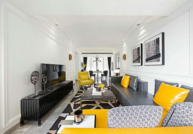 格林威治城130平方三室两厅北欧风格万博官网效果图
