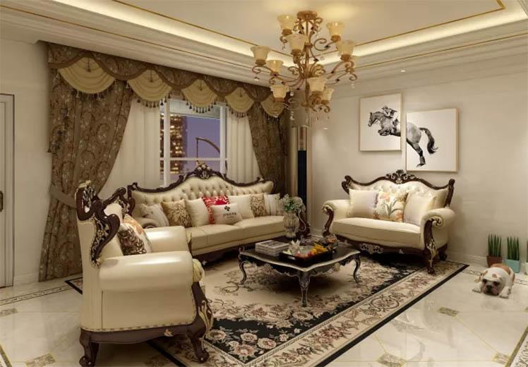 世界冠郡109平方三室两厅欧式风格万博官网效果图
